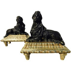Pair of Louis XV Chenets
