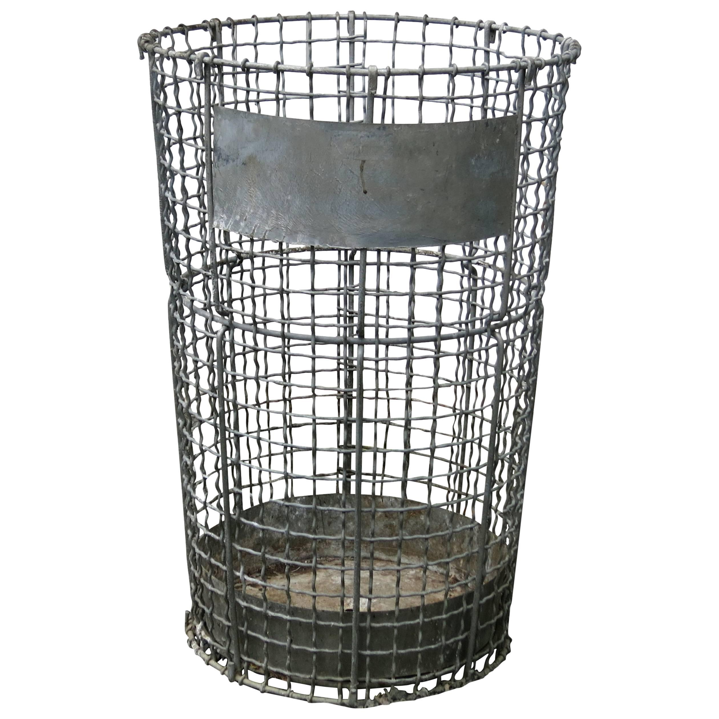 Decorative Wire Trash Can Precision Series Stainless Steel Trash