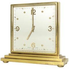 Double Sided Tiffany Heavy Bronze Square Desk Table Clock