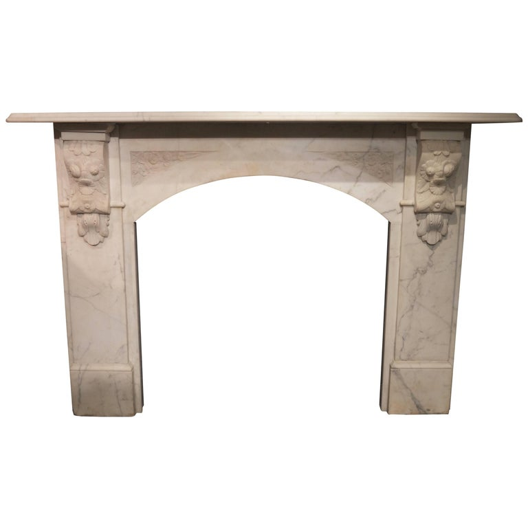 Antique Arched Victorian Marble fireplace