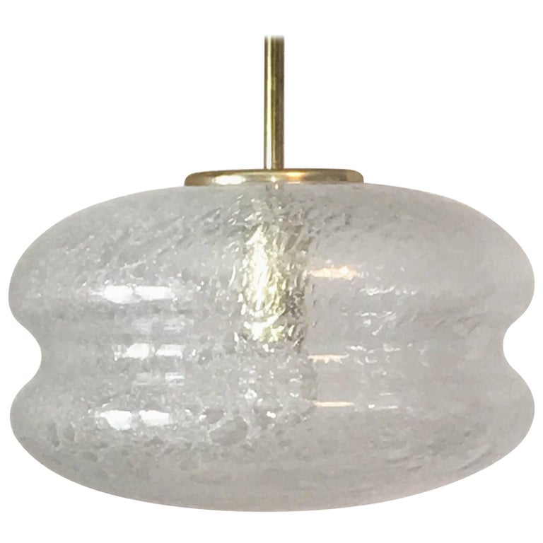 Air Bubble Glass Pendant Chandelier 1960s by Doria
