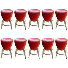 Ten Swedeish Bar Stools by Johanson Design