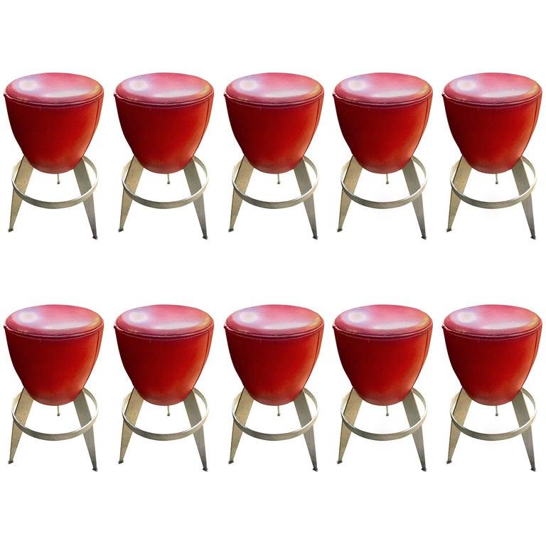 Ten Swedeish Bar Stools by Johanson Design
