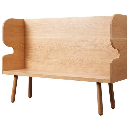 Plank Settle Bench by Sue Skeen for the New Craftsmen