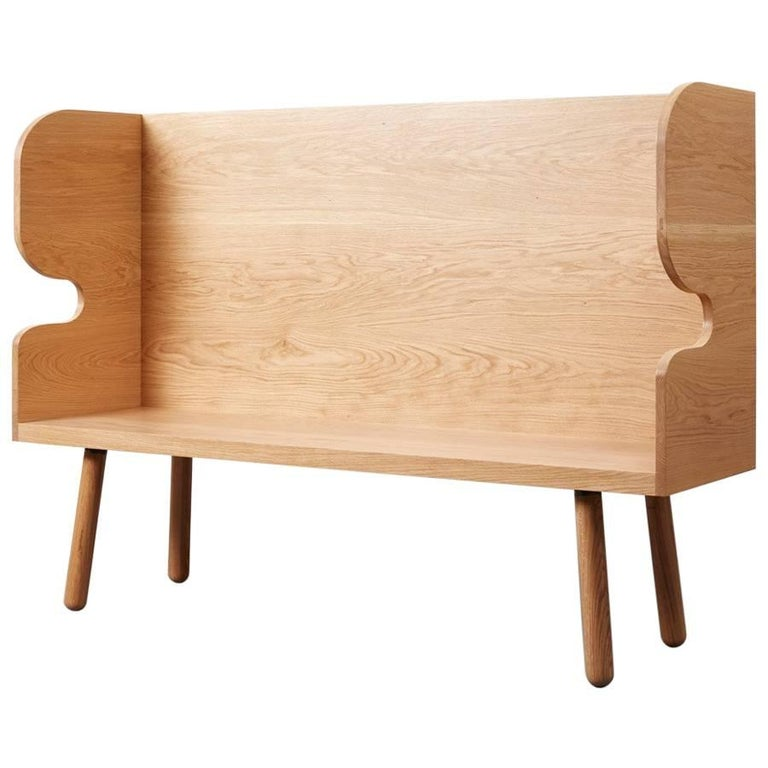 Plank Settle Bench by Sue Skeen for the New Craftsmen For Sale