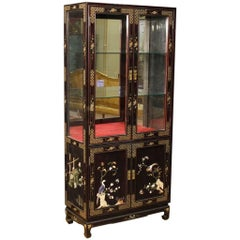 20th Century French Lacquered Chinoiserie Vitrine