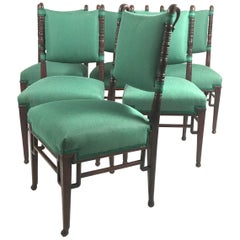Set of Six Aesthetic Movement Period Dining Chairs