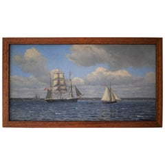 Early 20th Century Seascape Painting by Christian Blache, 1901