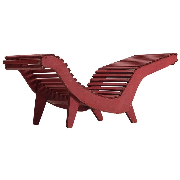 Klaus Grabe Deep Red Chaise Longue