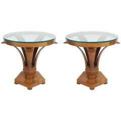 Rare Pair of Edward Wormley for Dunbar Tulip Side Tables #5621