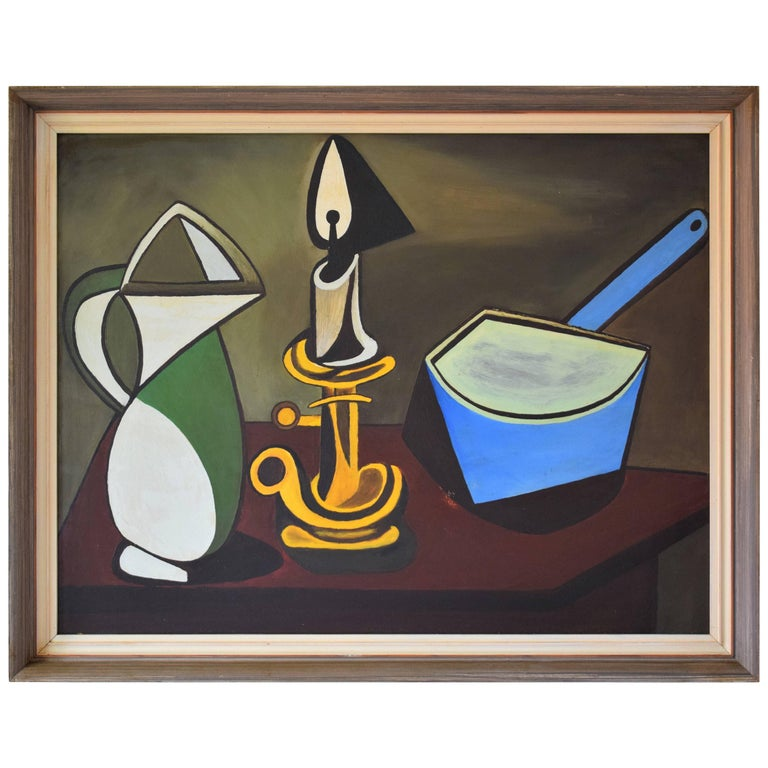 Cubist Still Life with Jug, Candlestick and Casserole, 1900s