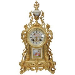 Ormolu and Sèvres Porcelain Clock by Achille Brocot