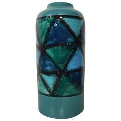 Uncommon Bitossi Vetrata Vase by Aldo Londi
