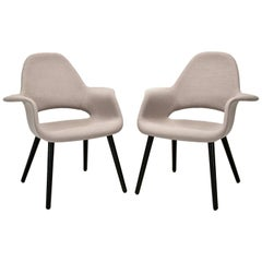 Pair of Organic Armchairs by Charles Eames and Eero Saarinen for Vitra