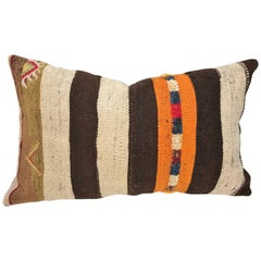 Custom Moroccan Pillow Cut from a Hand Loomed Wool Berber Rug