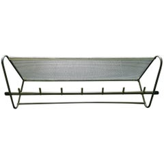 Perforated Metal Coat Rack Mid-Century
