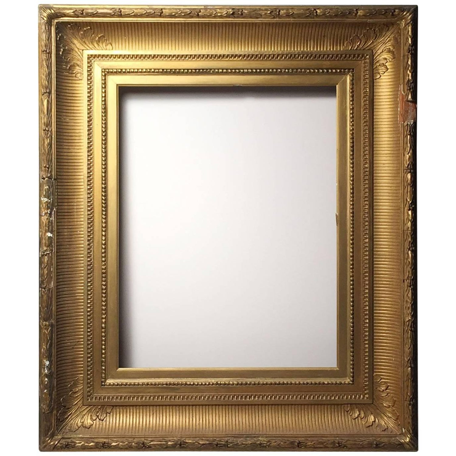 Degas no 5 modern wall mirror gilded in 23 karat yellow gold american hudson river school gilded wood frame mirror amipublicfo Images