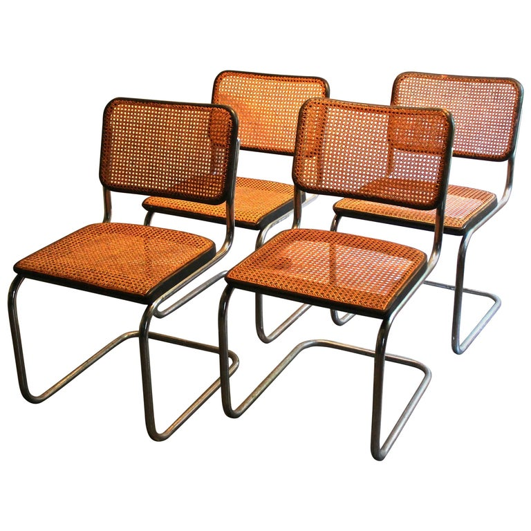 four marcel breuer thonet b32 bauhaus classic 39 cesca 39 chairs for sale at 1stdibs. Black Bedroom Furniture Sets. Home Design Ideas