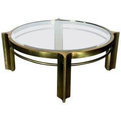 Mastercraft Round Brass Cocktail Table
