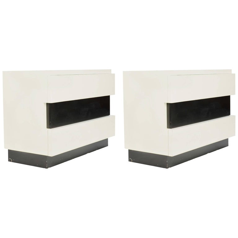 Magnificent Pair of Dan Johnson Chest of Drawers for Hayden Hall For Sale