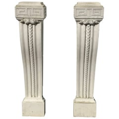 Pair of 19th Century English Regency Marble Plinths or Pedestals