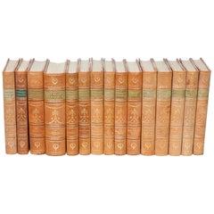 15 Swedish Leather Bound Books