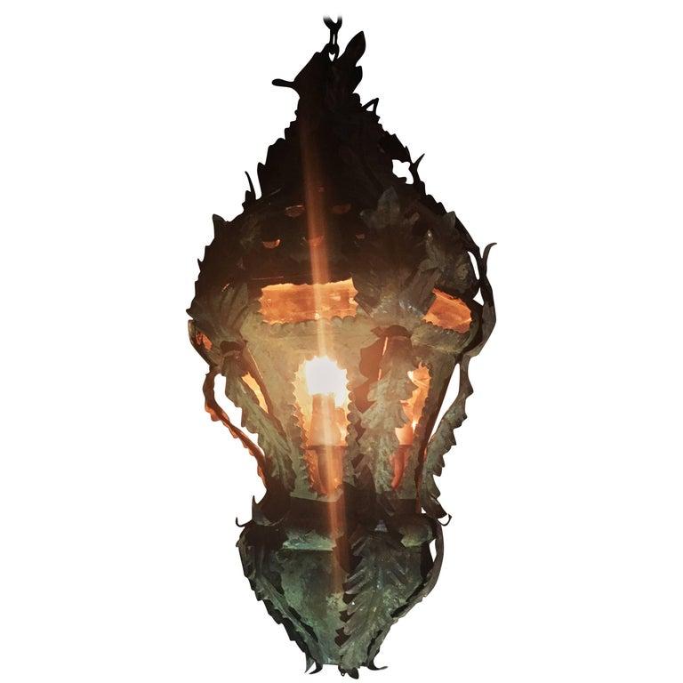 Venetian Rococo Tole Lantern, circa 18th Century