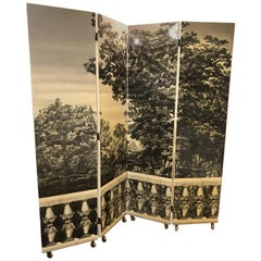 Fornasetti Four Panel Screen For Sale At 1stdibs