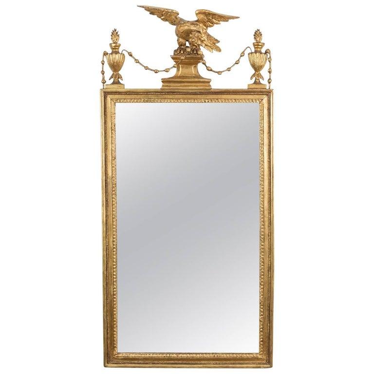 Sheraton Period Pier Mirror Sheraton Period Neoclassical Giltwood Pier Mirror