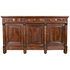 French Directoire Period Walnut Enfilade Buffet