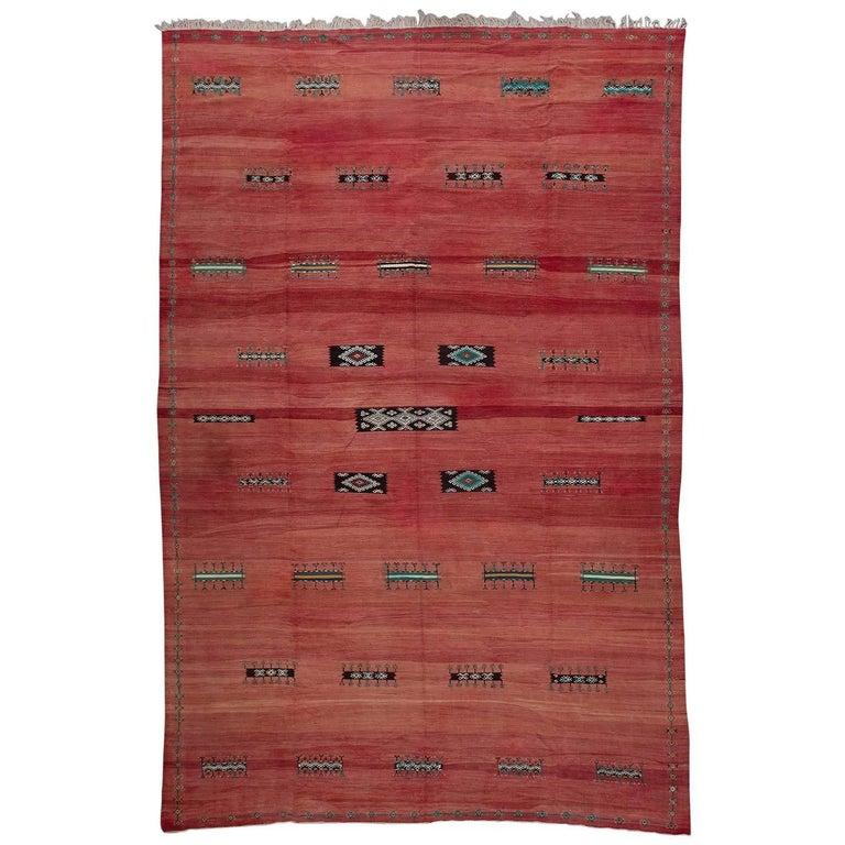 Akhnif Ait Ouaouzguite Vintage Moroccan Rug, Large