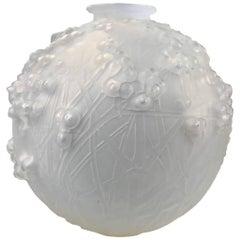 "Lalique Glass Vase ""Druides,"" circa 1920"