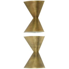 Edward Wormley Brass Corner Lamps for Lightolier