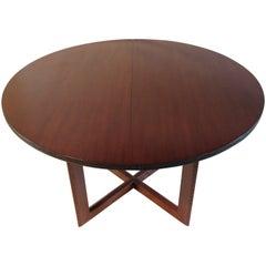 Frank Lloyd Wright Mahogany Oval Dining Table Heritage Henredon Talliesin, 1955