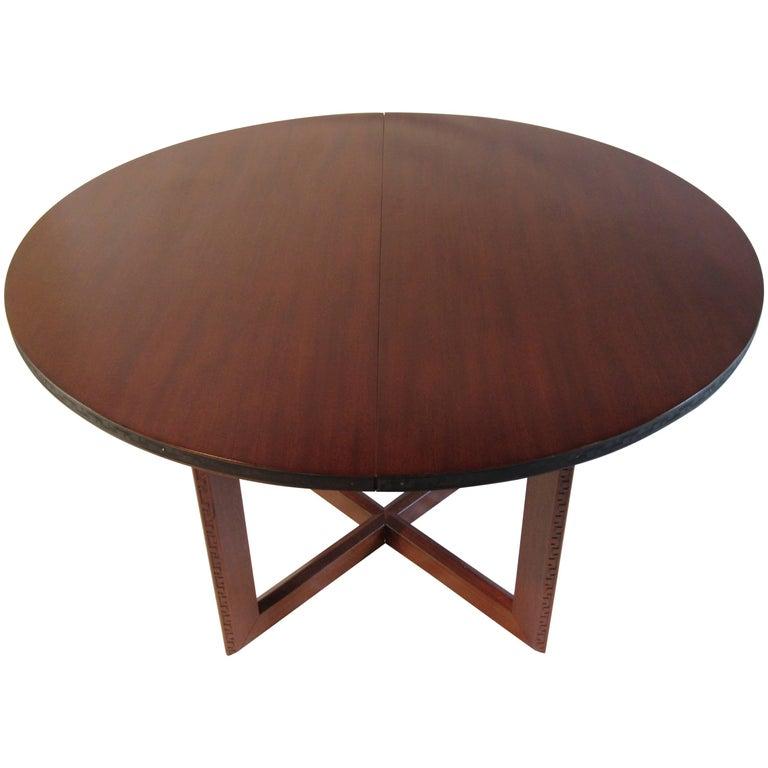 Frank Lloyd Wright Mahogany Oval Dining Table Heritage