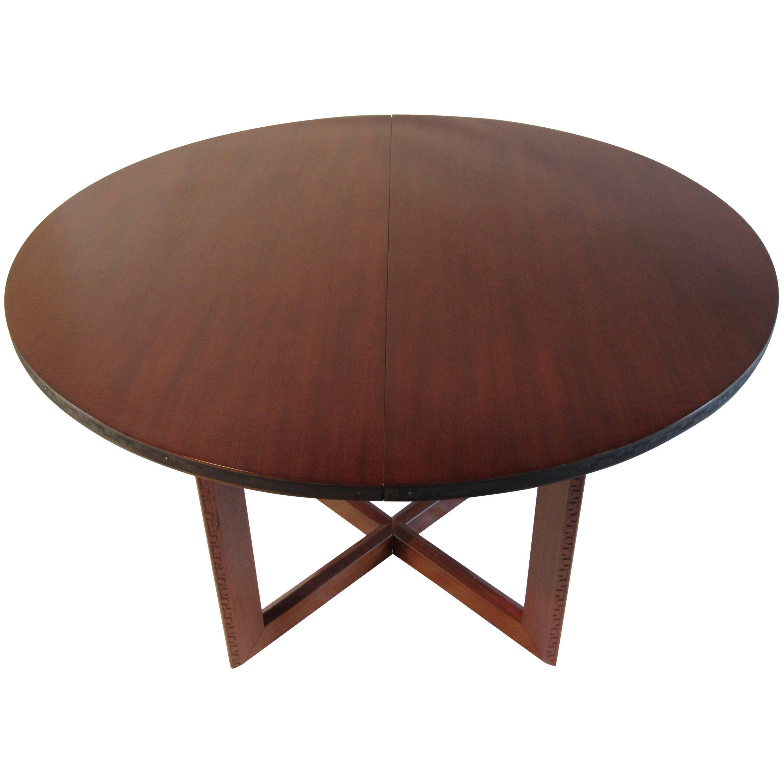 frank lloyd wright mahogany oval dining table heritage henredon talliesin