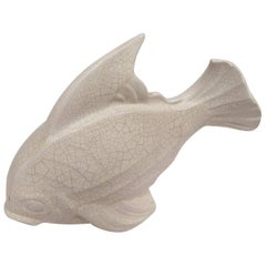 Art Deco Crackled Ivory-Glazed Fish