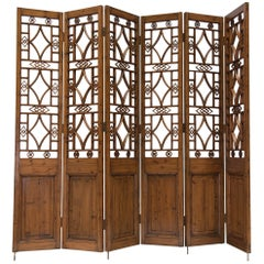 Chinese Six-Panel Lattice Screen