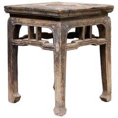 Ancient Chinese Wooden Stool from the Shanxi Province