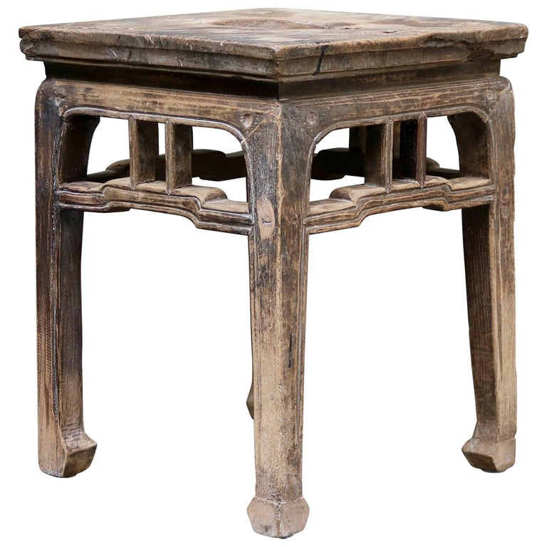 Ancient Chinese Wooden Stool from the Shanxi Province 1