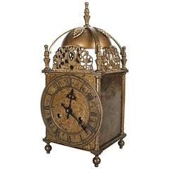 Antique George III, German Bulova Watch Co. Bronze Mantel Clock, 19th Century