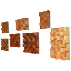 Set of Contemporary Wooden Artwork