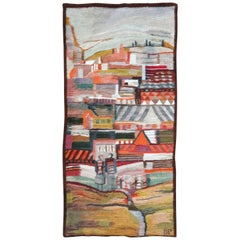 Sought After Handwoven Tapestry Designed by Piotr Grabowski Called 'Holandia'