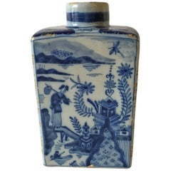 Delftware Tea Caddy by Johannes Van Duijn