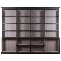 Painted English Style Open Library Bookcase