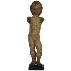 17th Century Carved Spanish Christ Nino Santo