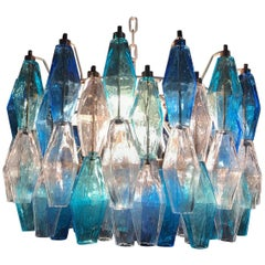 "Fantastic Murano Chandelier ""Poliedri"" in the Style of Carlo Scarpa"