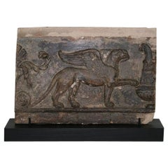French 18th Century Terracotta Panel with a Griffin