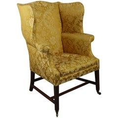 18th Century George III Mahogany Wing Armchair
