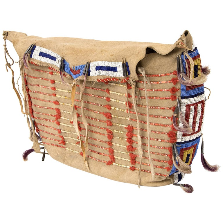Antique Native American Beaded Possible Bag, Sioux For ...